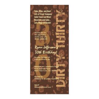 DIRTY THIRTY Birthday Chocolate Coffee Tall Card