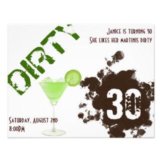 Dirty Thirty Invitations