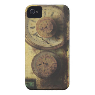 Dirty Timepiece Steampunk Clock Digital Collage iPhone 4 Cases