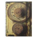 Dirty Timepiece Steampunk Clock Digital Collage Notebook