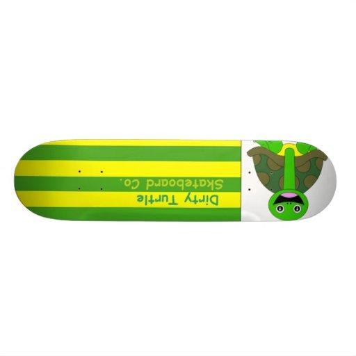 Dirty Turtle Flag Deck Skateboard Decks