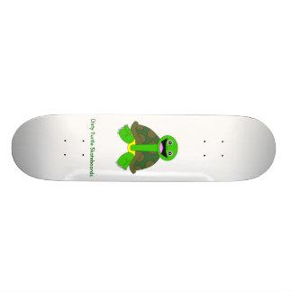 Dirty Turtle Logo, White Skateboard