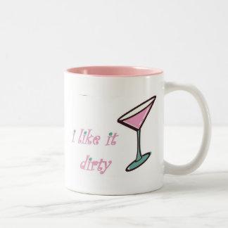 dirty Two-Tone coffee mug