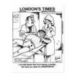Dirty Underwear & Hospitals Funny Gifts & Tees Postcard