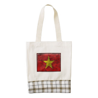 Dirty Vietnam Flag Zazzle HEART Tote Bag