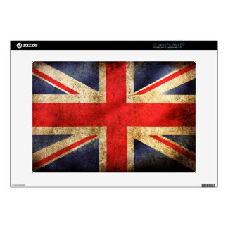 """dirty vintage british flag decals for 15"""" laptops"""