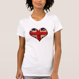 Dirty Vintage UK Flag Heart T-Shirt