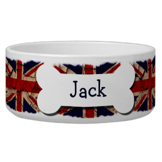 Dirty Vintage UK Personalized Dog Food Bowl
