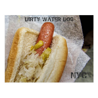 Dirty Water Dog NYC Postcard