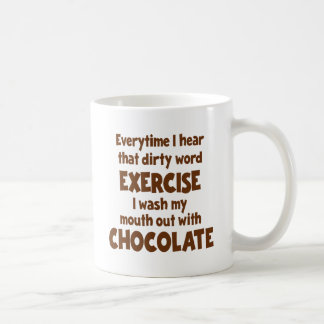 Dirty Word Exercise 1, brown Classic White Coffee Mug