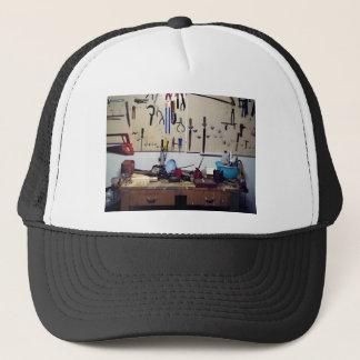 Dirty workbench trucker hat