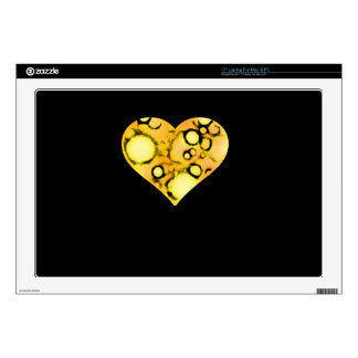 "dirty yellow heart 17"" laptop decals"
