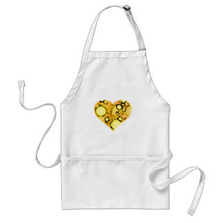 dirty yellow heart adult apron