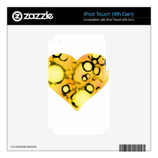 dirty yellow heart skins for iPod touch 4G