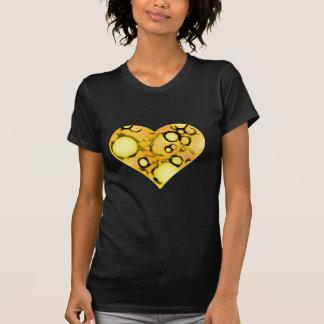 dirty yellow heart tee shirt