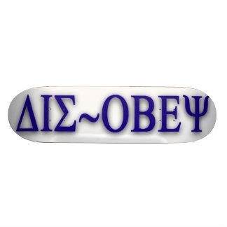 DIS~OBEY by j3ll3y Skateboard Deck