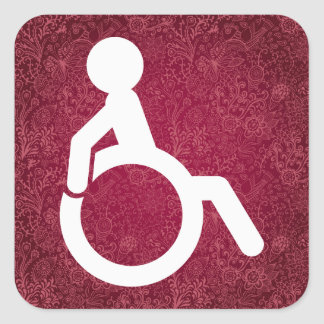 Disabilities Minimal Square Sticker