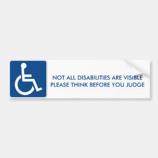 Disability Bumper Sticker