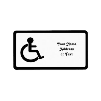 Disability Disabled  Symbol Address Label