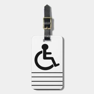 Disability Disabled  Symbol Bag Tag