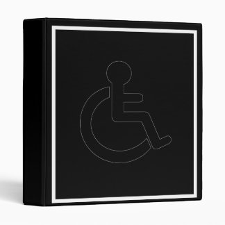 Disability Disabled  Symbol Vinyl Binders