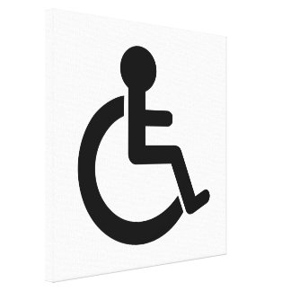 Disability Disabled  Symbol Gallery Wrapped Canvas