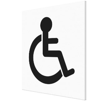 Disability Disabled  Symbol Stretched Canvas Print