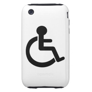 Disability Disabled  Symbol Tough iPhone 3 Case