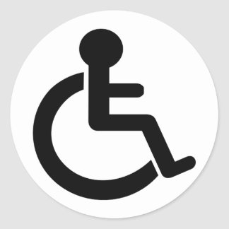 Disability Disabled  Symbol Classic Round Sticker