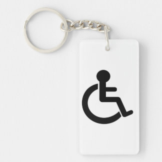 Disability Disabled  Symbol Double-Sided Rectangular Acrylic Keychain