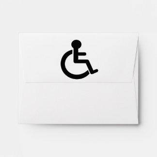 Disability Disabled  Symbol Envelopes