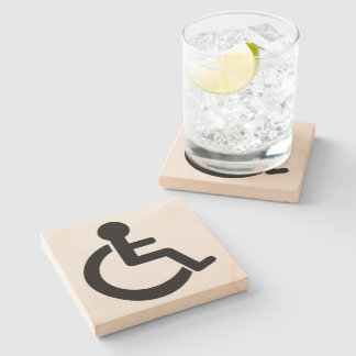 Disability Disabled  Symbol Stone Coaster