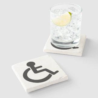 Disability Disabled  Symbol Stone Beverage Coaster