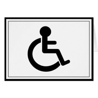 Disability Disabled  Symbol Greeting Card