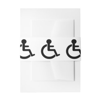 Disability Disabled  Symbol Invitation Belly Band