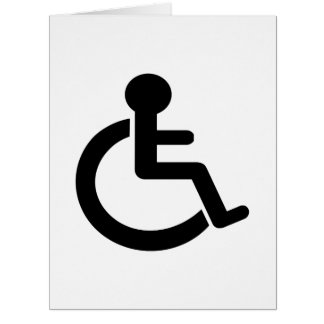 Disability Disabled  Symbol Large Greeting Card