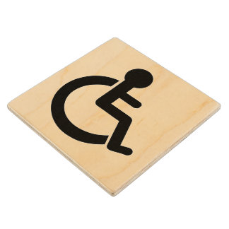 Disability Disabled  Symbol Wood Coaster