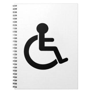 Disability Disabled  Symbol Spiral Note Books