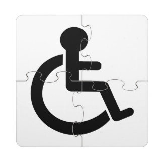Disability Disabled  Symbol Puzzle Coaster