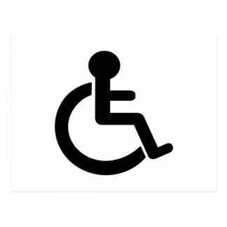 Disability Disabled  Symbol Postcard