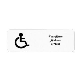 Disability Disabled  Symbol Return Address Label