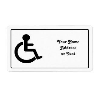 Disability Disabled  Symbol Shipping Label