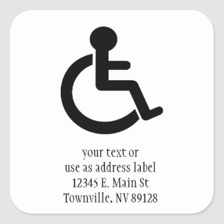 Disability Disabled  Symbol Square Sticker