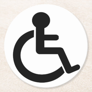Disability Disabled  Symbol Round Paper Coaster