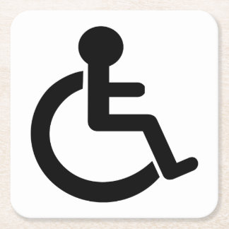 Disability Disabled  Symbol Square Paper Coaster