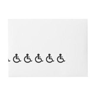 Disability Disabled  Symbol Wraparound Address Label