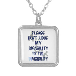 Disability/INvisibility Silver Plated Necklace