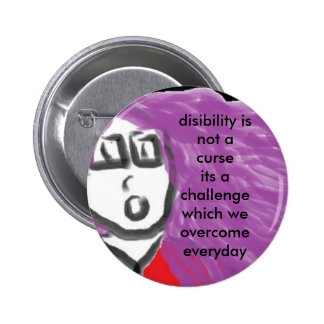 disability is no curse 2 inch round button