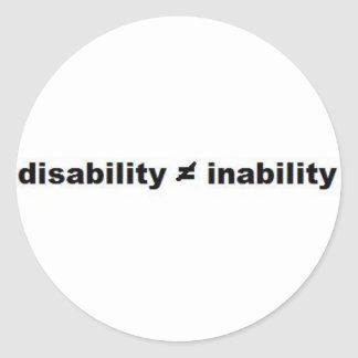 Disability Math Sticker