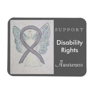 Disability Rights Awareness Ribbon Angel Magnet